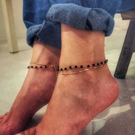 Ericdress Double Chain Beads Anklets