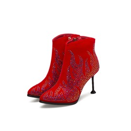 Ericdress Rhinestone Side Zipper Round Toe Women's Boots