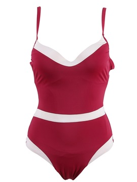 Ericdress Sexy Color Block Lace-Up Monokini