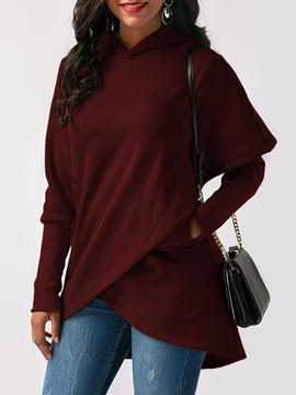 Ericdress Loose Plain Pocket Patchwork Cool Hoodie