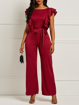 Ericdress Ruffles Plain Tunic Women's Jumpsuit