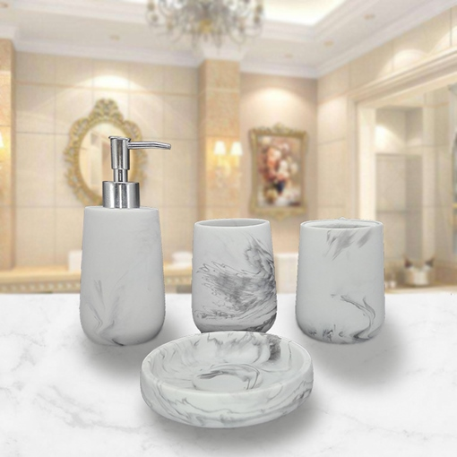 Ericdress Chinese Brush Drawing Bathroom Accessories Soap Dispenser Cup Toothbrush