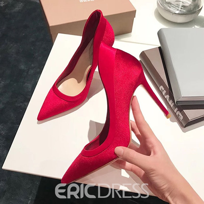 Ericdress Purfle Pointed Toe Stiletto Heel Pumps