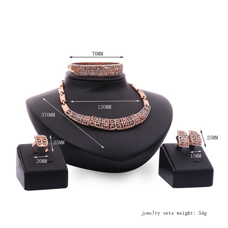 Ericdress Hollow Out Carving Jewelry Set
