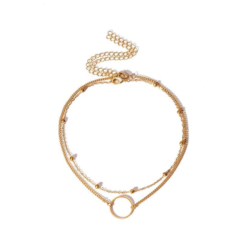 Ericdress Round Ring Double Multilayer Necklace