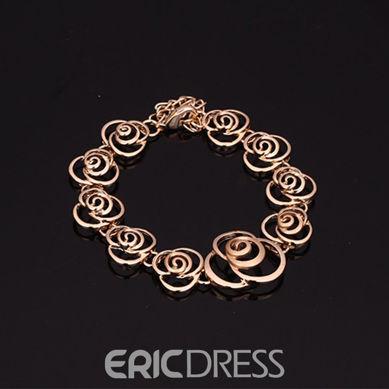 Ericdress Hollow Out Rose Alloy Jewelry Set