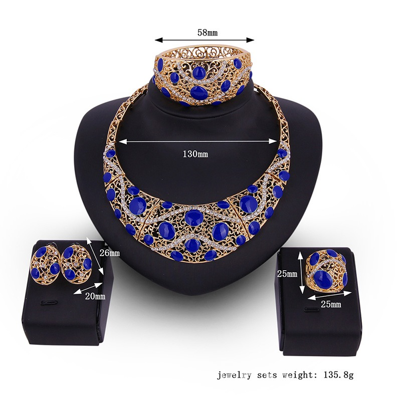Ericdress Hollow Out Diamante Decorate Jewelry Set