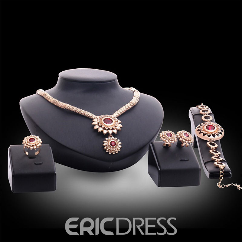 Ericdress Sunflower Rubasse Jewelry Set