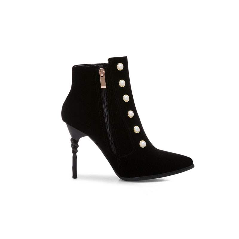 Ericdress Beads Side Zipper Stiletto Heel Women's Boots