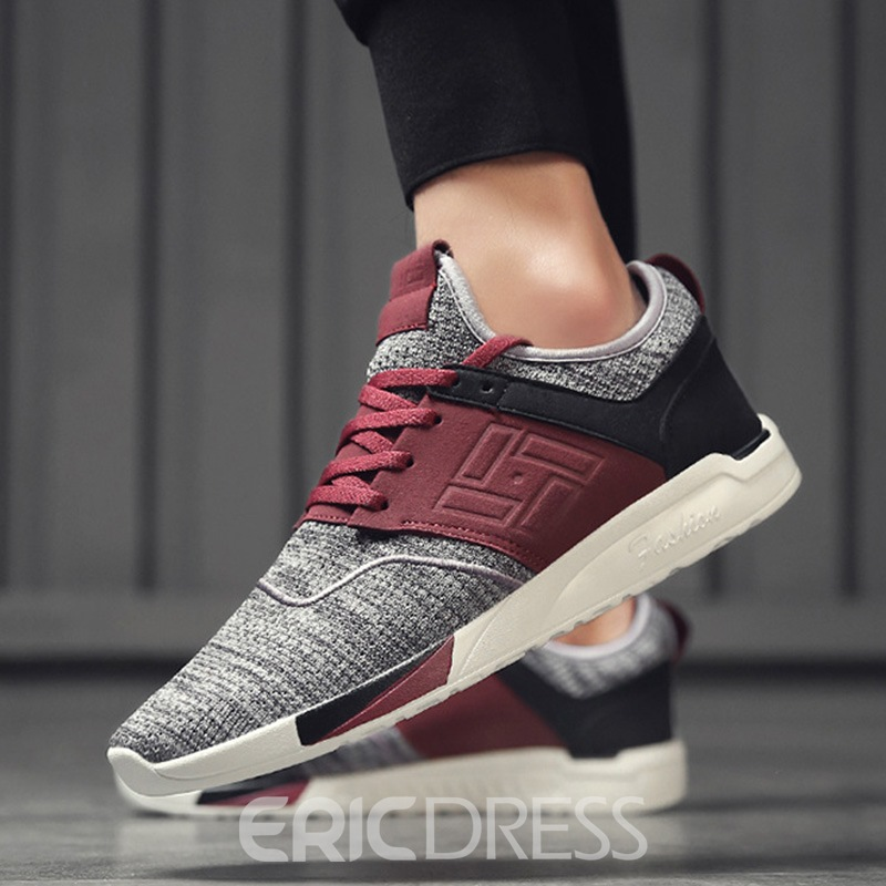 Ericdress Mesh Patchwork Low-Cut Upper Men's Comfortable Sneakers