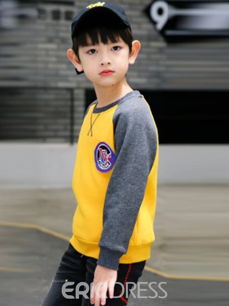 Ericdress Letter Peinted Patchwork Boy's Casual Sweatshirts