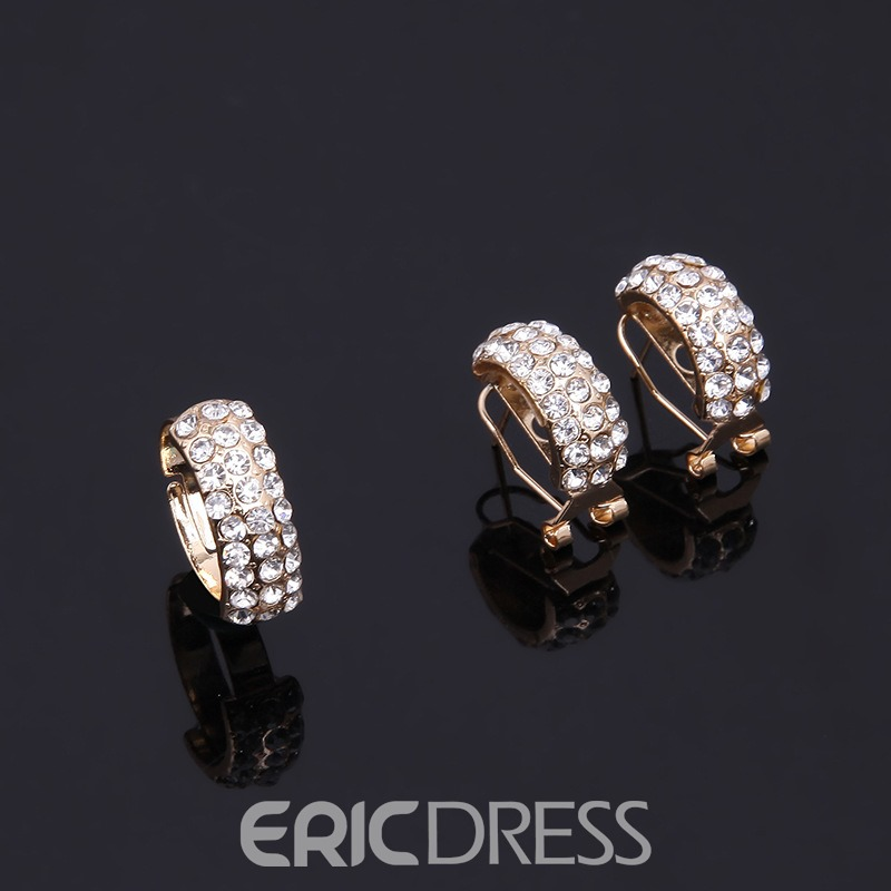 Ericdress Diamante Ring Jewelry Set