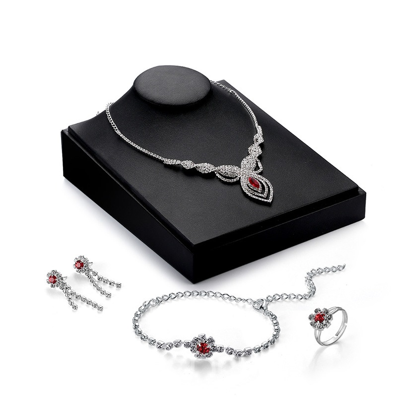 Ericdress Red Crystal Jewery Set