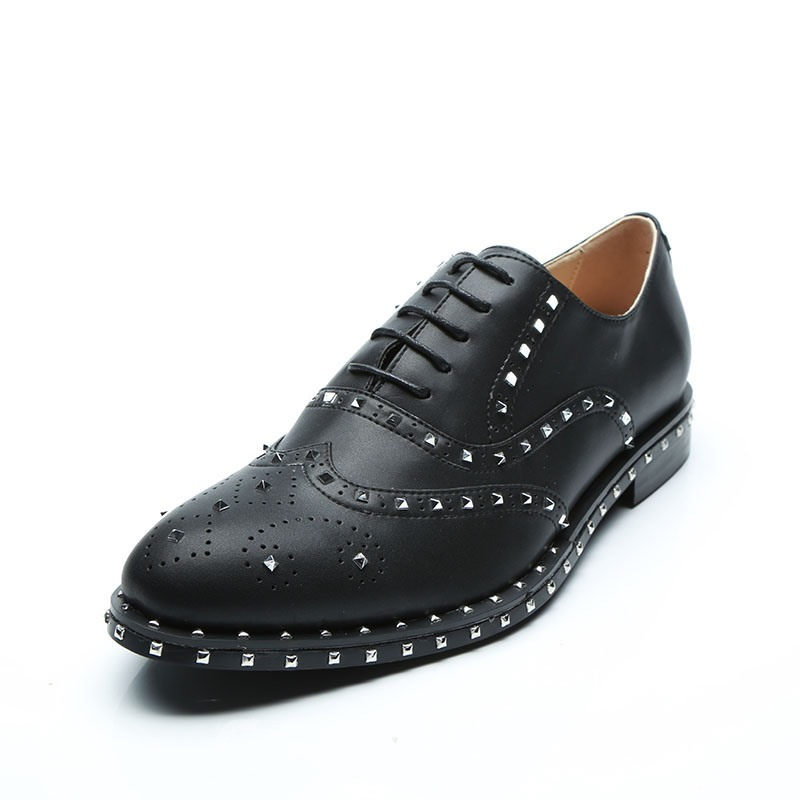 Ericdress Rivet Lace-Up Men's Oxfords