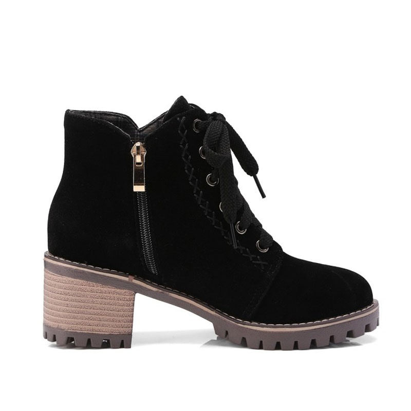 Ericdress Round Toe Lace-Up Front Women's Martin Boots