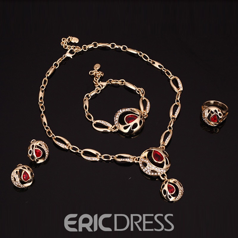 Ericdress Rubasse Crystal Jewelry Set