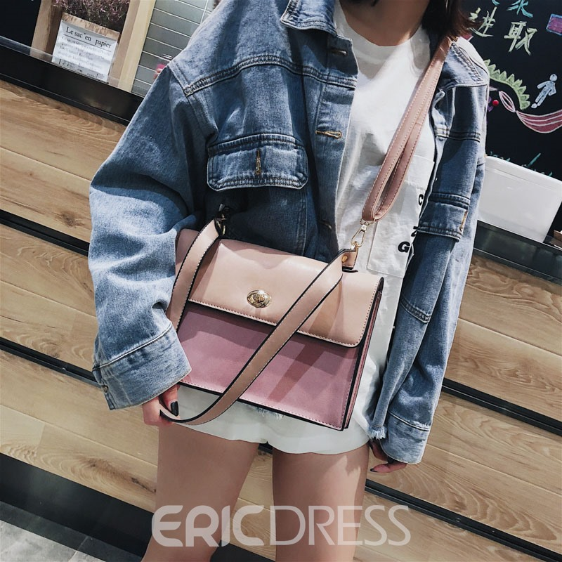 Ericdress Plain Casual Rectangle Small Shoulder Bag