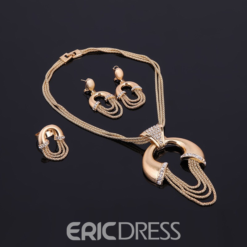 Ericdress Multilayer Chain Diamante Jewelry Set