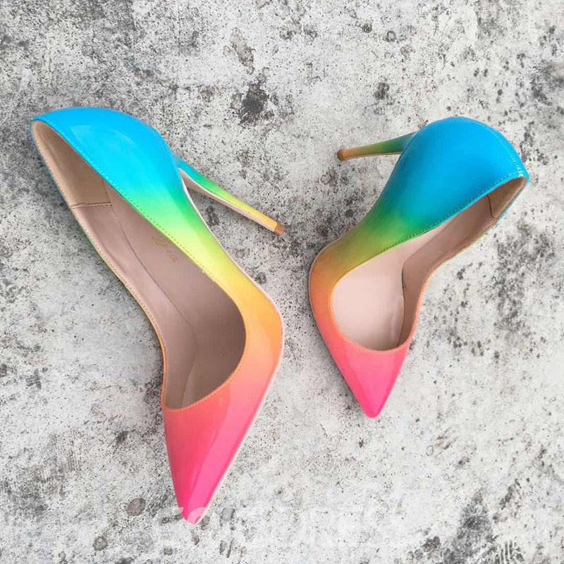 Ericdress PU Gradient Pointed Toe Stiletto Heel Women's Pumps