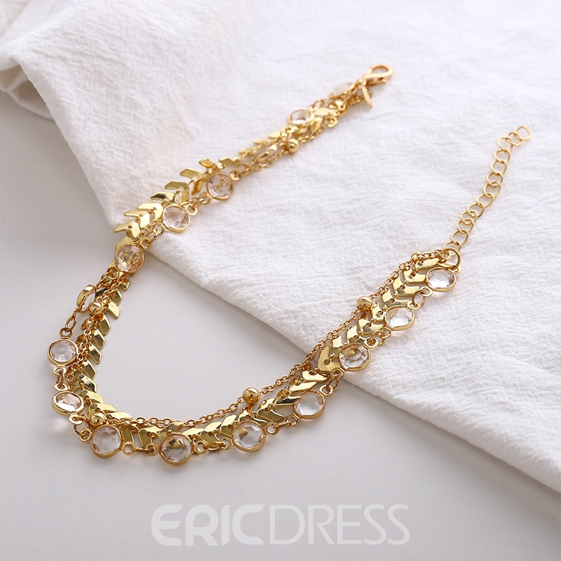 Ericdress Multilayer Chain Anklet(just 1 Pic)