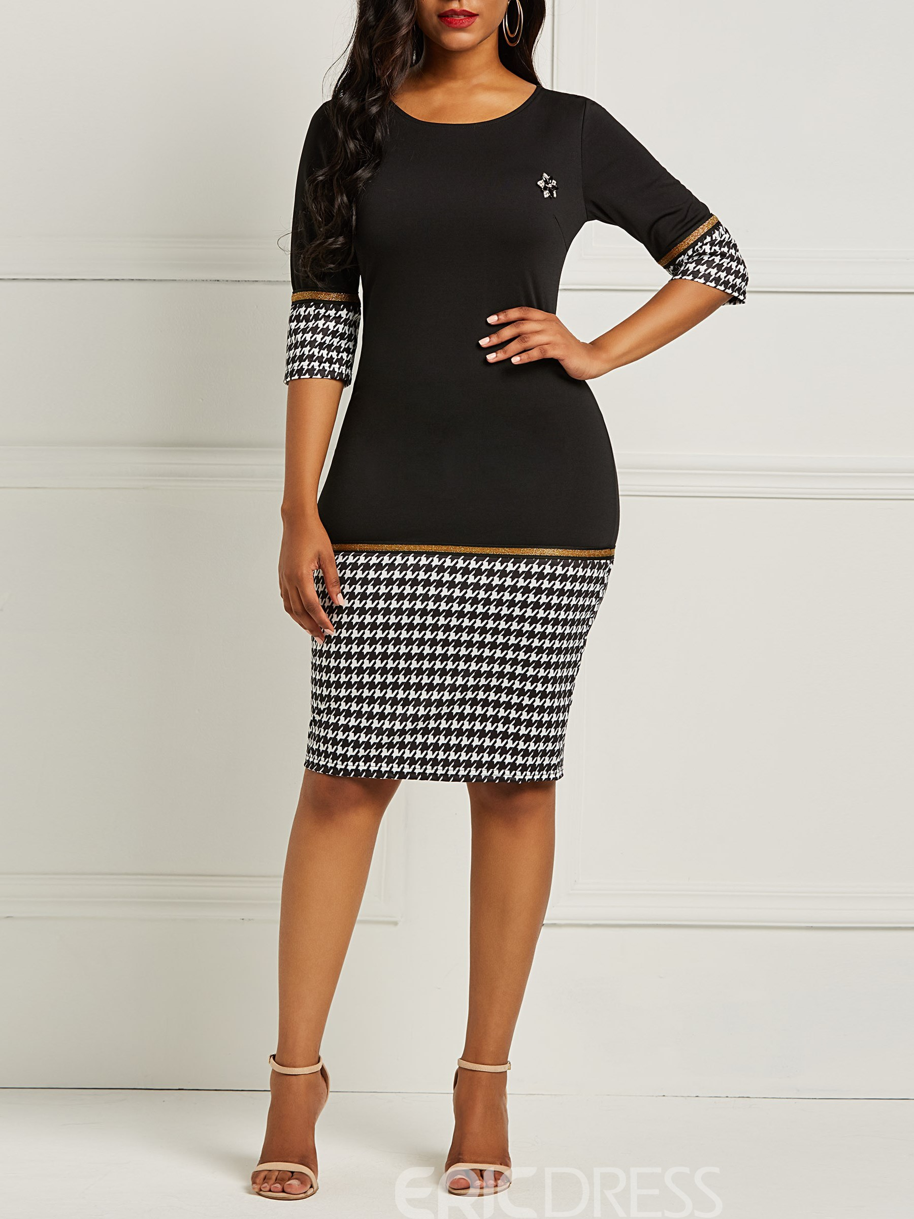 Ericdress Bodycon Half Sleeves Women's Dress