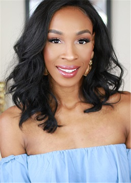 Ericdress Shoulder Length Wavy Human Hair Capless Wig For Black Women
