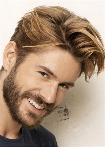 Ericdress Swagger Hairstyle Human Hair Straight Full Lace Men's Wig