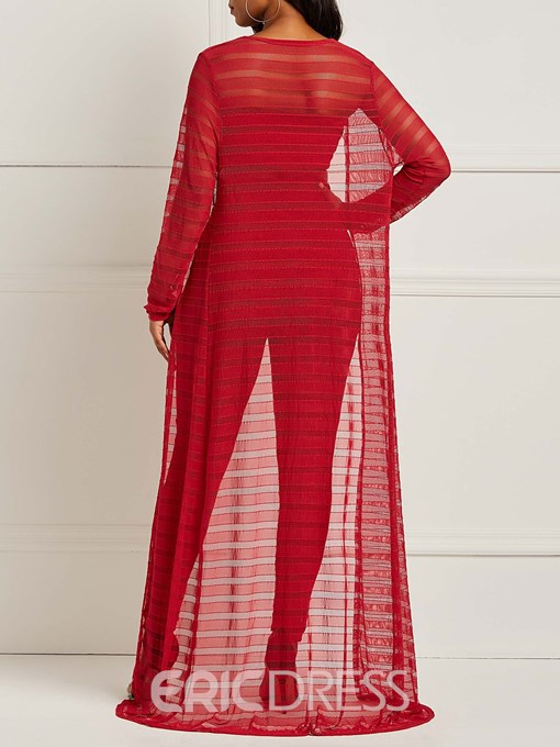 Ericdress Mesh Patchwork Vest and Coat and Pants Women'a Three-Piece Suit