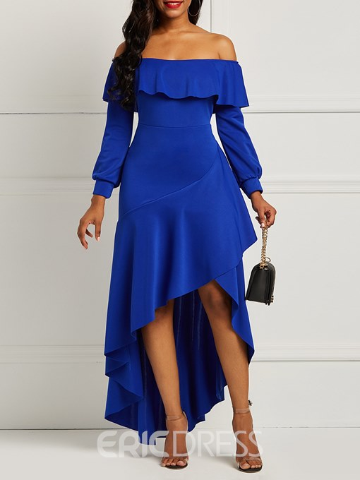 Ericdress Long Sleeves Asymmetrical Women's Party Dress