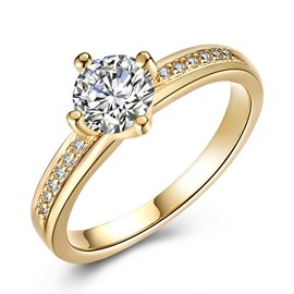 Ericdress Four Claw Hold You Wedding Ring