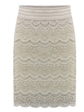 Ericdress Plus Size Bodycon Lace Plain Office Lady Skirt