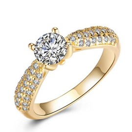 Ericdress Queen Diamante Wedding Ring