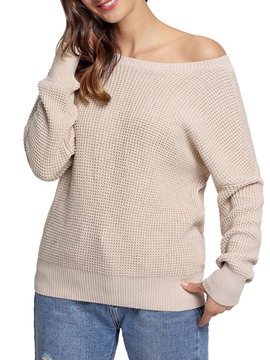Ericdress Plain Loose Long Sleeves Womens Knitwear