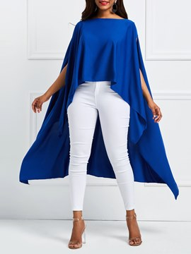 Ericdress Plain Round Neck Long Loose Western T-Shirt