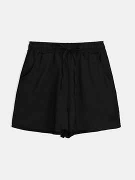 Wide Leg Loose Plain Women's Shorts