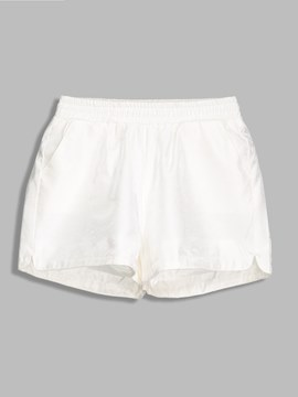 Plain Loose Elastics Mom Women's Shorts