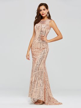 Ericdress Sequins Backless Mermaid Evening Dress