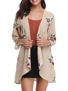 Ericdress Floral Loose Print Thin Sun Protective Clothing