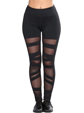 Ericdress Plain Mesh Women's Leggings