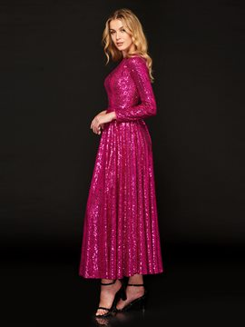 Ericdress A Line Long Sleeve Sequin Prom Dress
