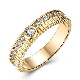 Ericdress Annulus Diamante Ring