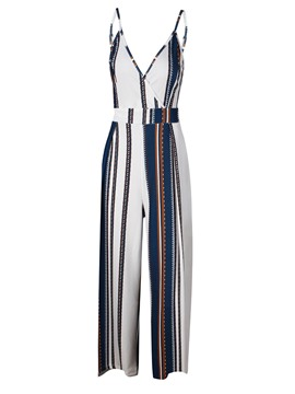 Ericdress Stripe Strap Women's Jumpsuit