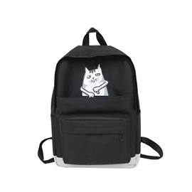 Ericdress Cartoon Canvas Soft Backpack