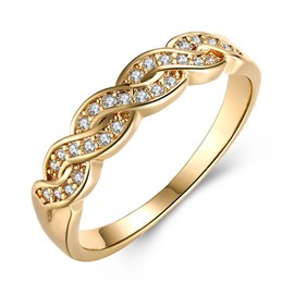 Ericdress Together Diamante Wedding Ring
