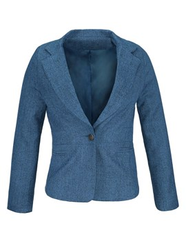 One Button Pure Color Korean Style Women's Blazer