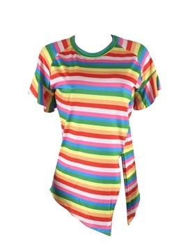 Ericdress Loose Stripe Short Sleeve Womens T Shirt