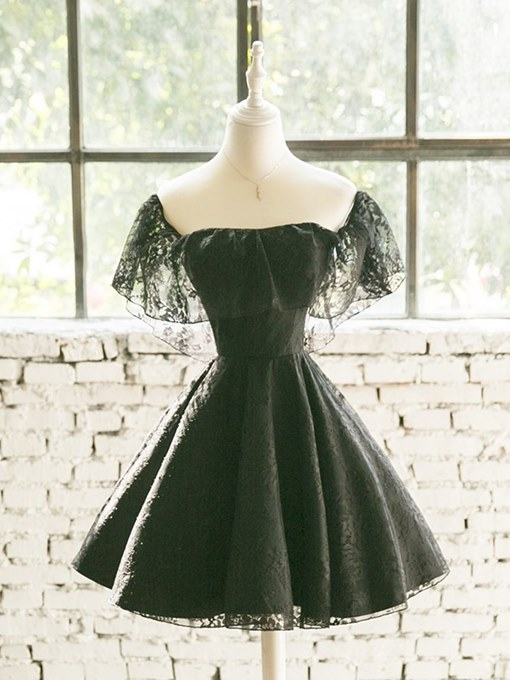 Ericdress A Line Lace Little Black Homecoming Dress