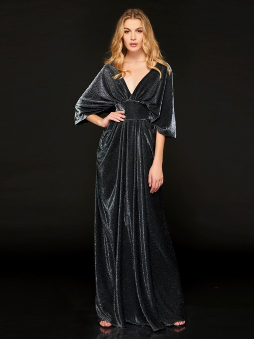 Ericdress V-Neck Half Sleeve Mother of the Bride Dress