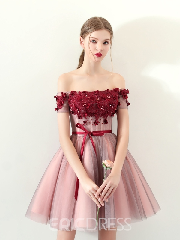 Ericdress A Line Off The Shoulder Homecoming Dress