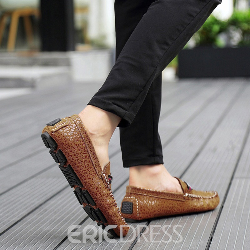 Ericdress PU Slip-On Round Toe Low-Cut Men's Shoes